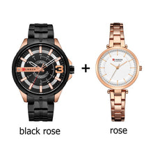 Load image into Gallery viewer, Couple's Wristwatch Stainless Steel