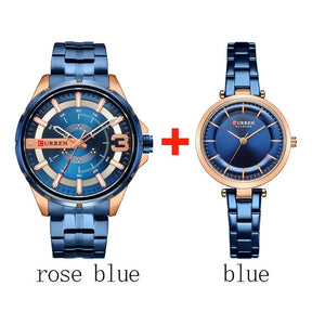Couple's Wristwatch Stainless Steel