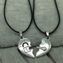 Load image into Gallery viewer, Couple Necklace for Women & Men Silver color