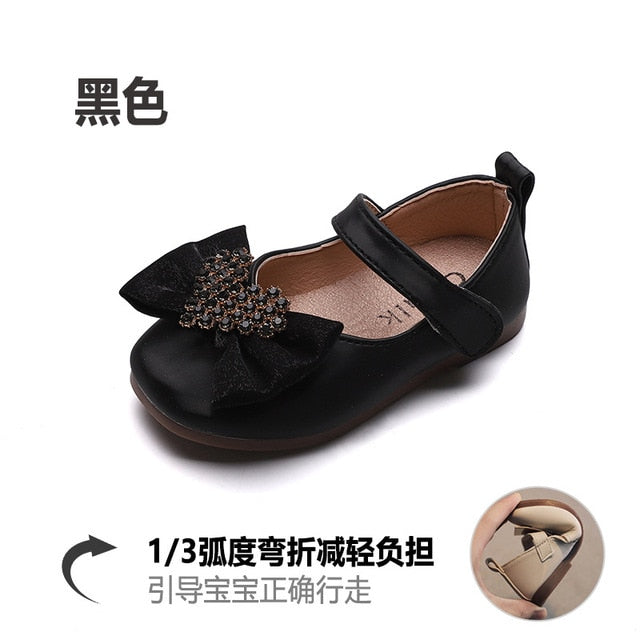 Baby Girls Treasure Korean Bow Fashion Soft Sole shoes