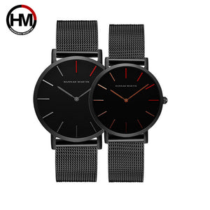 Rose Gold Stainless Steel Mesh Lover Watches (Japan)
