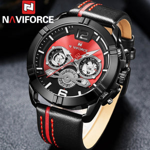Leather Strap Sports  Watch