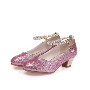 Rhinestone Butterfly pink Latin shoes