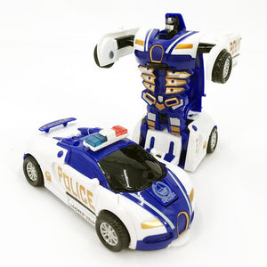Police Car Transformation Deformation Robot 2 In 1 Car
