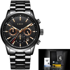 Leather Band Men Fashion Sport Watch