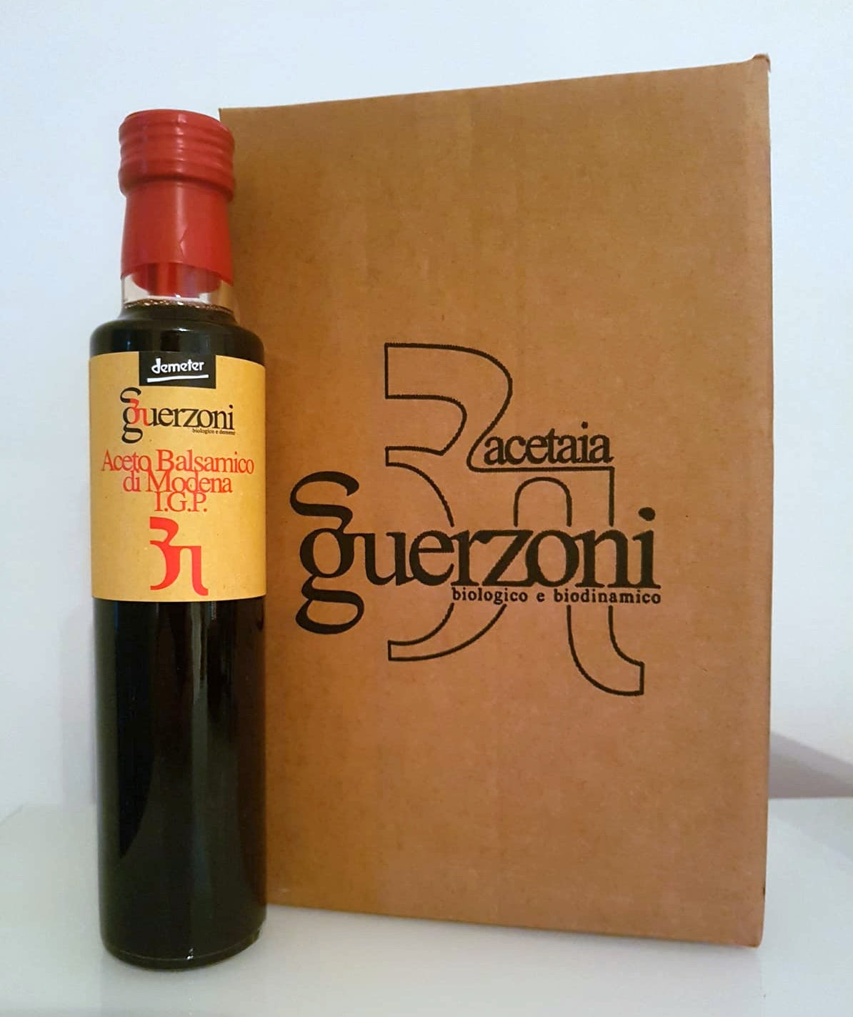 NEW! Guerzoni Organic & Biodynamic Balsamic Vinegar of Modena PGI - Density 1.16 - Box of 6