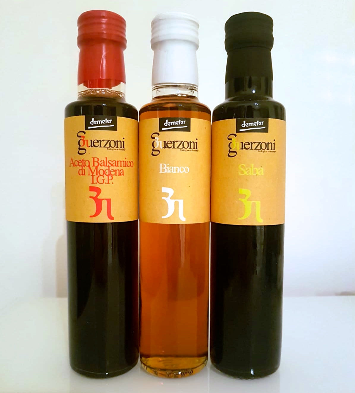 Tasting Set: Guerzoni Trio Organic & Biodynamic Balsamic Vinegars Gift Set