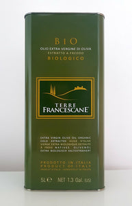 Organic Extra Virgin Olive Oil 100% Italian  5L Can