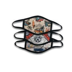 3-PACK VW RETRO BUS PPE ANTI MICROBIAL | FACE MASK