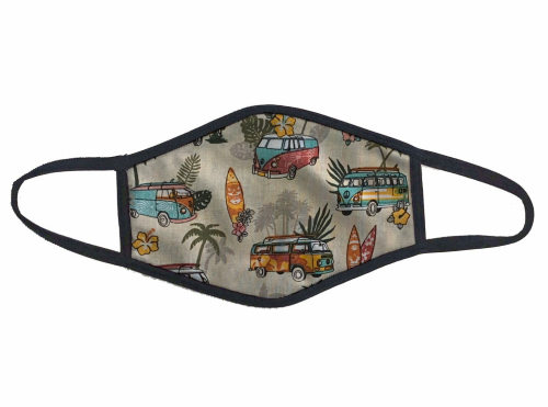 VW BUS PATTERN PPE ANTI MICROBIAL | FACE MASK