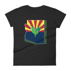 GREEN CHILE LOVE | AZ MAP | WOMENS