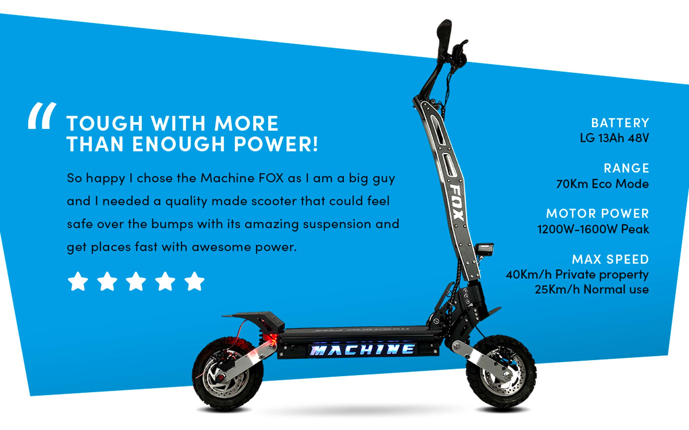 Machine Fox E-Scooter - Review and Specs