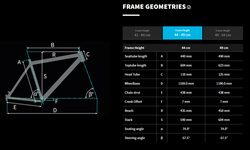 Bulls E-Core Evo AM2 Geometry