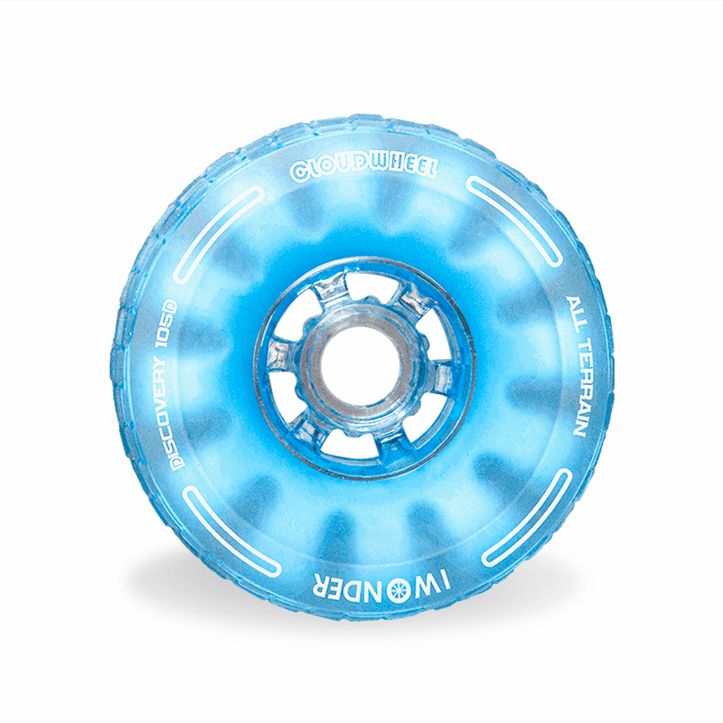 CloudWheel Discovery Urban All Terrain Off Road eSkateboard Wheels Blue 105mm Front