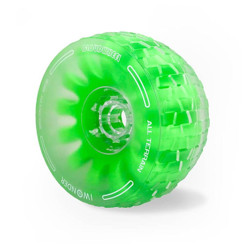 CloudWheel Discovery Urban All Terrain Off Road eSkateboard Wheels Green 105mm Angle