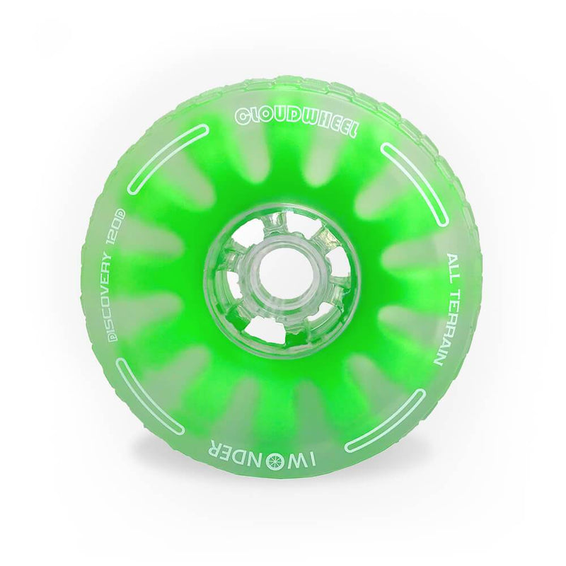 CloudWheel Discovery Urban All Terrain Off Road eSkateboard Wheels Green 105mm Front
