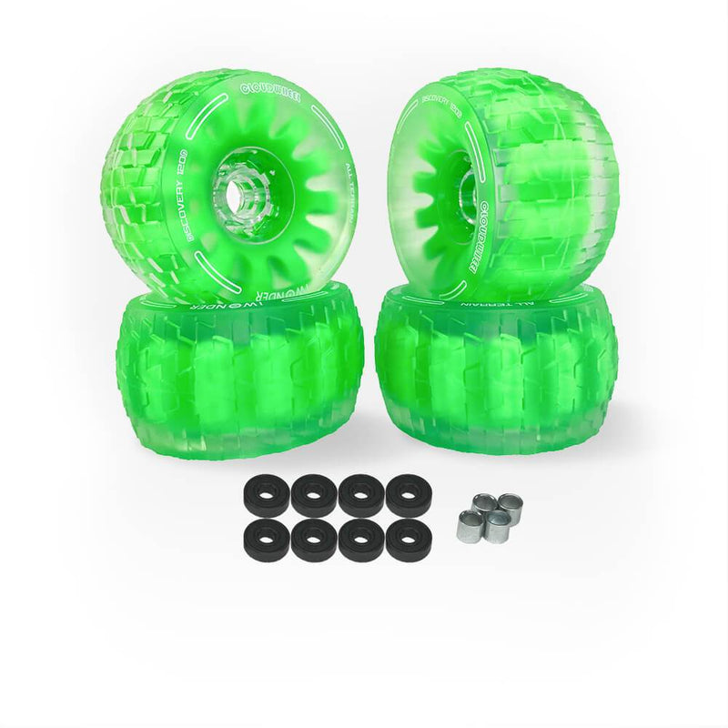 CloudWheel Discovery Urban All Terrain Off Road eSkateboard Wheels Green 105mm