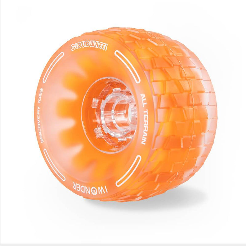 CloudWheel Discovery Urban All Terrain Off Road eSkateboard Wheels Orange 105mm Angle