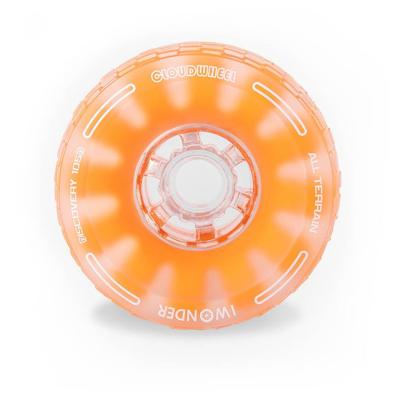 CloudWheel Discovery Urban All Terrain Off Road eSkateboard Wheels Orange 105mm Front