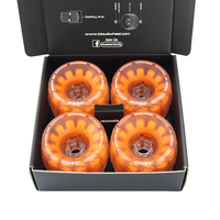 CloudWheel Discovery Urban All Terrain Off Road eSkateboard Wheels Orange 105mm Package