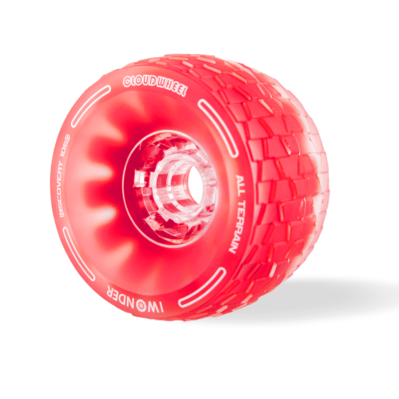 CloudWheel Discovery Urban All Terrain Off Road eSkateboard Wheels Red 105mm Angle