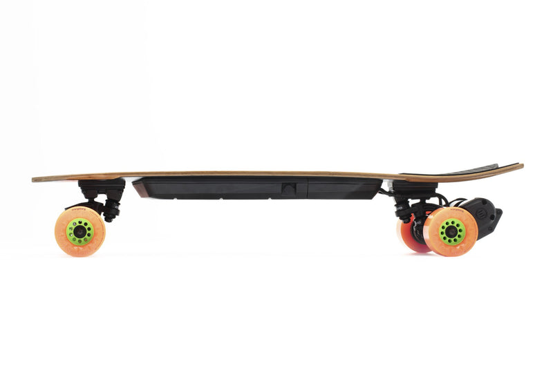 Evolve Stoke e Skateboard Orangatang Caguama 85mm Orange 80A Side