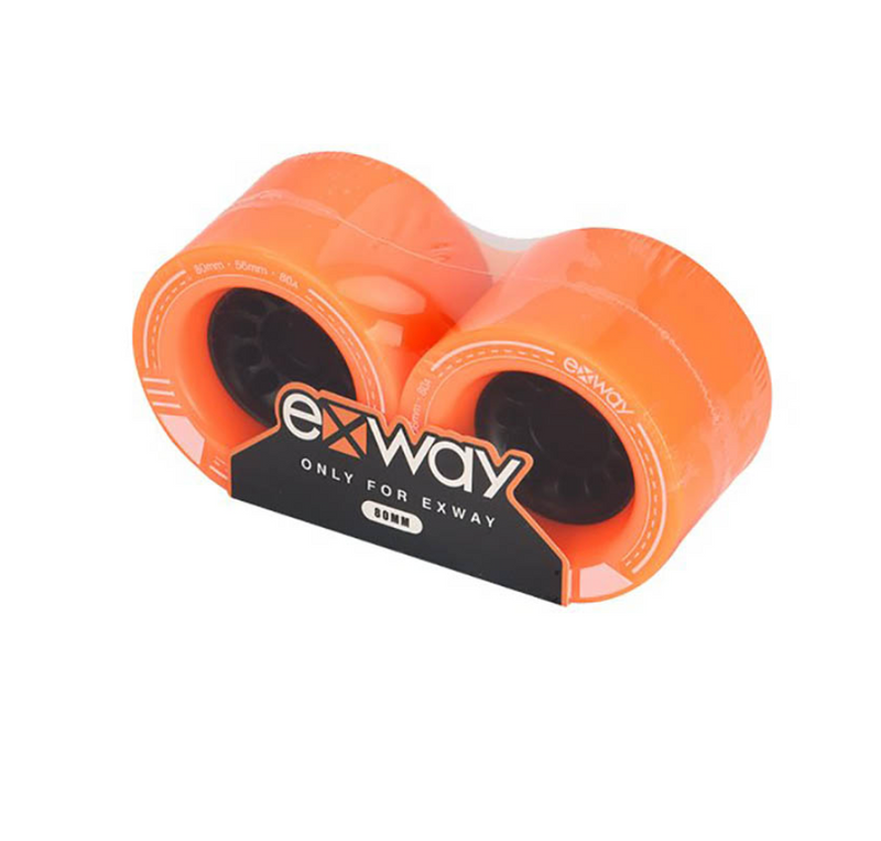 Exway 85mm Front Wheel Pair Orange Package