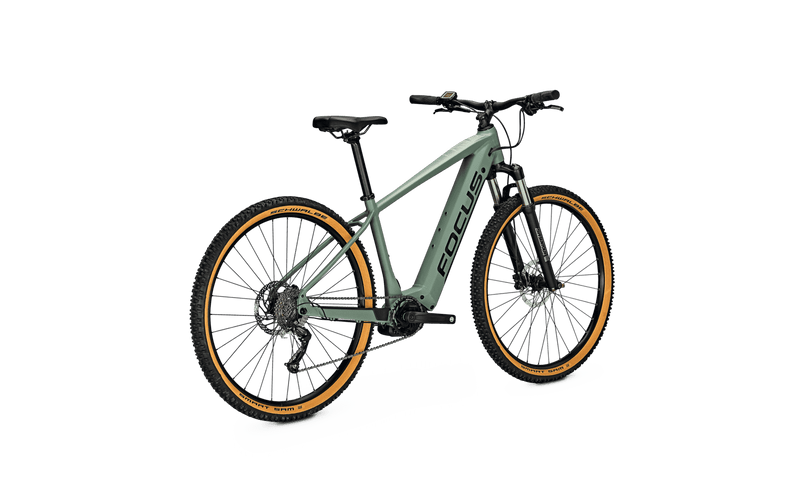 Focus Jarifa 6.7 NINE e Mountain Bike Green Angle Back