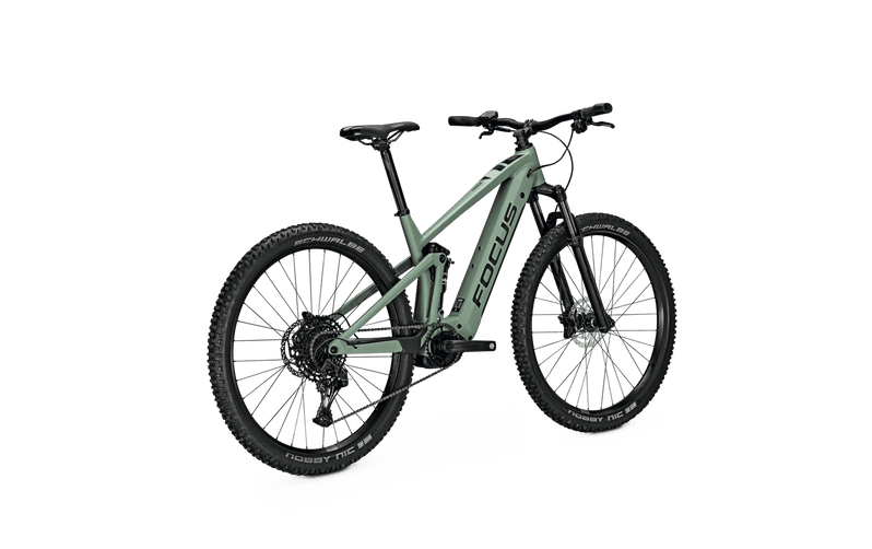 Focus Thron 6.7 e Mountain Bike 2021 Green Angle Back