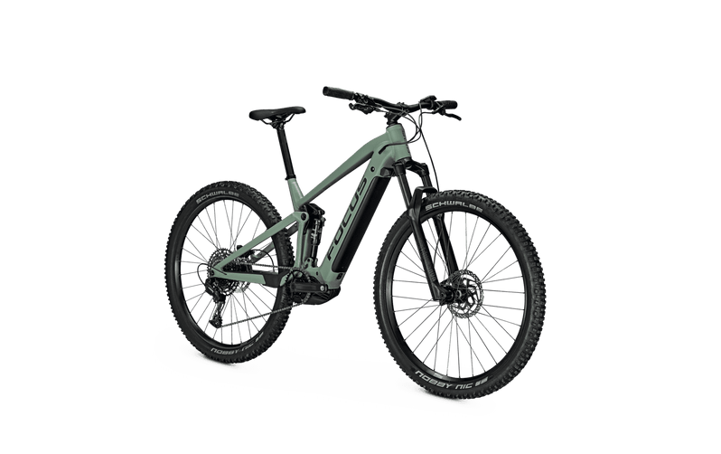 Focus Thron 6.7 e Mountain Bike 2021 Green Angle Front