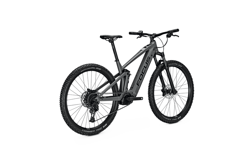 Focus Thron 6.7 e Mountain Bike 2021 Grey Angle Back