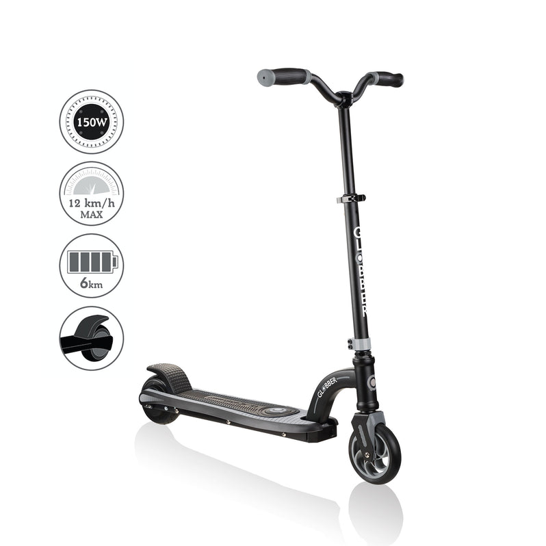 Globber ONE K E Motion 10 Youth e Scooter  Angle Grey