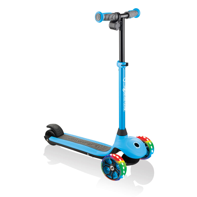 Globber ONE K E Motion 4 Kids e Scooter Angle Blue