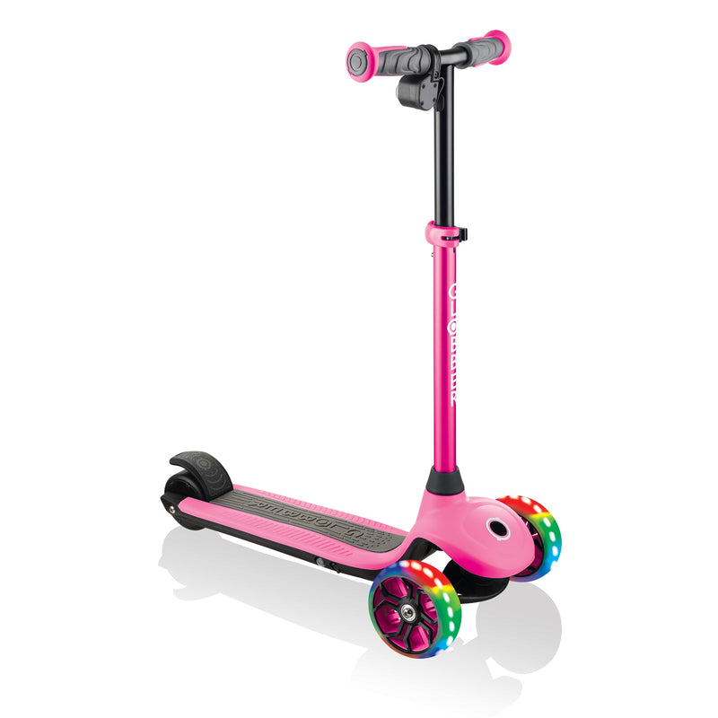 Globber ONE K E Motion 4 Kids e Scooter Angle Pink
