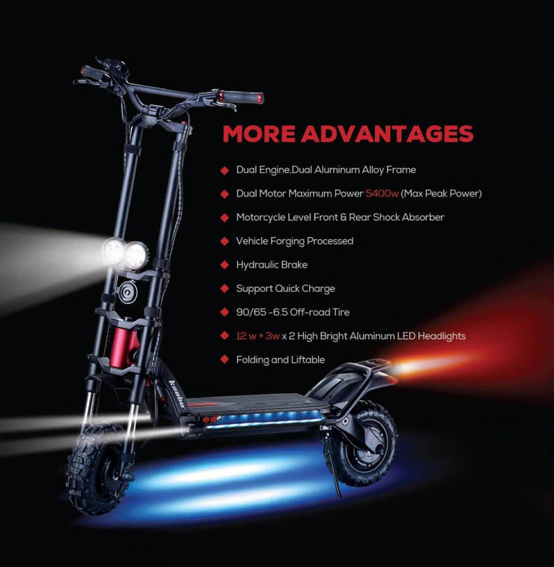 Kaabo Wolf Warrior 11 Electric Scooter Details