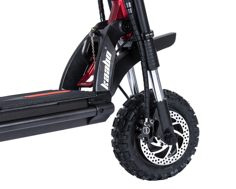 Kaabo Wolf Warrior 11+ Electric Scooter Black Front Wheel