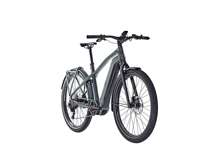 Kalkhoff Endeavour 7.B Pure Trapeze Frame e-Bike  2021 Green Black Front Angle