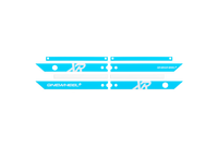 OneWheel XR Rail Guards Hot Blue