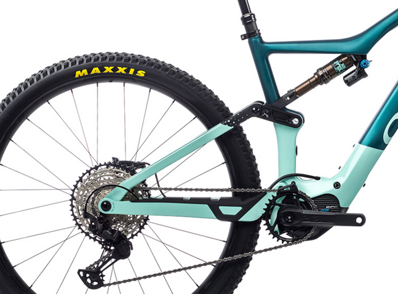 Orbea Rise M10 e-Mountain Bike 2021 Iced Green Ocean Shock Motor