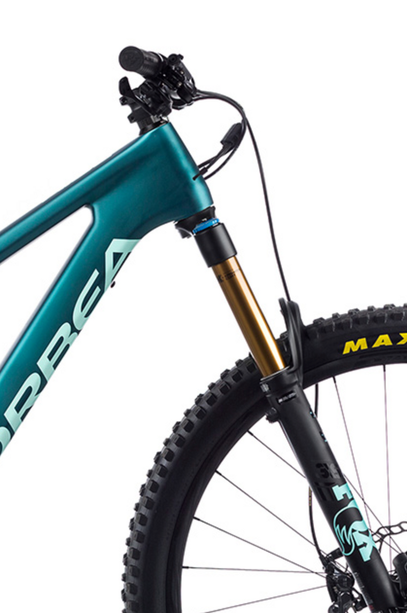 Orbea Rise M10 e-Mountain Bike 2021 Iced Green Ocean Shock