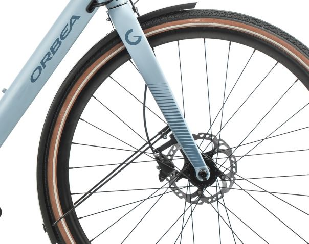 Orbea Urban Gain F10 ebike Blue Front Wheel