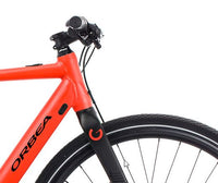 Orbea Urban Gain F40 ebike Red Black Handlebars
