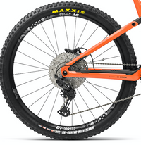 Orbea WILD FS M10 e Mountain Bike 2021 Orange Black Crank