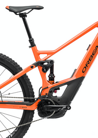 Orbea WILD FS M10 e Mountain Bike 2021 Orange Black Saddle