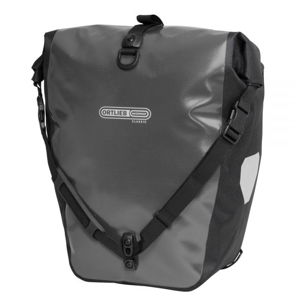 Ortlieb Back Roller Classic QL2.1 Waterproof Pannier Bag Asphalt Black