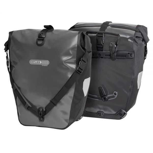 Ortlieb Back Roller Classic QL2.1 Waterproof Pannier Bag Pair Asphalt Black