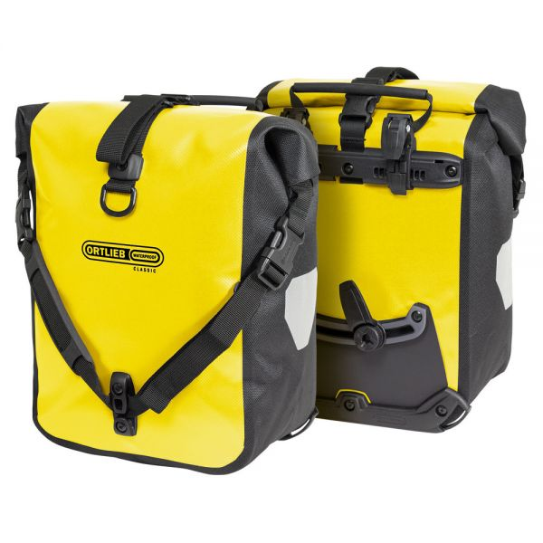 Ortlieb Sport Roller Classic QL2.1 Waterproof Pannier Bag Pair Yellow Black