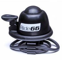 Ride66 Loud Bicycle Bell Black