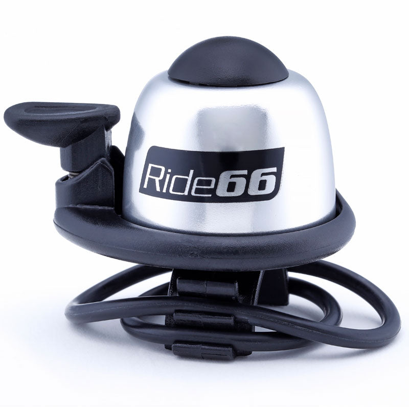 Ride66 Loud Bicycle Bell Silver