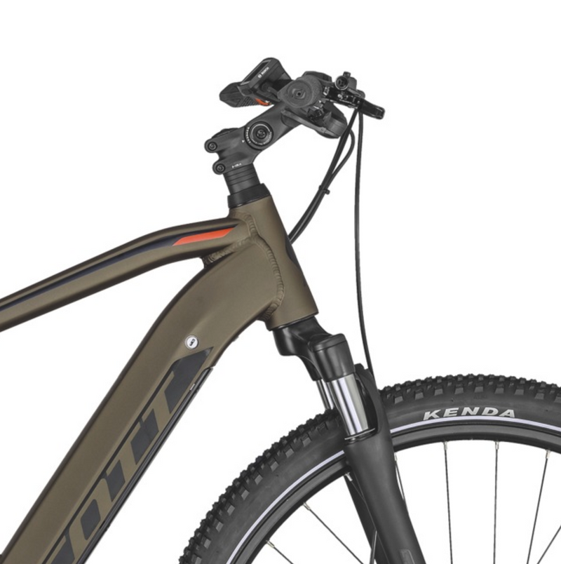 Scott Sub Cross eRIDE 20 Mens e Bike Brown Bronze Handlebar